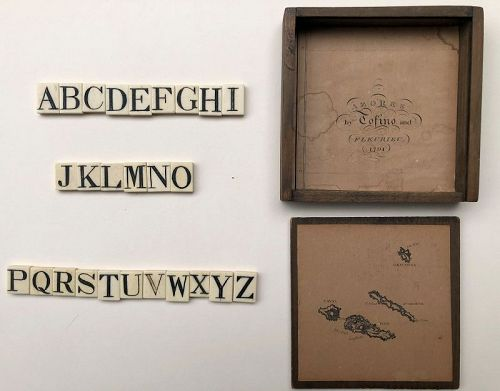 Letters of the Alphabet on bone, early 1800s