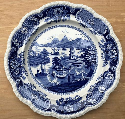 India Temple Ridgway Stone China plate c. 1820