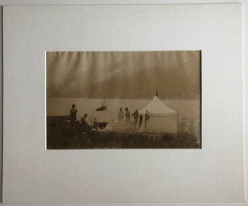 Albumen photo Loch Hourn Scotland c. 1880 J.V.