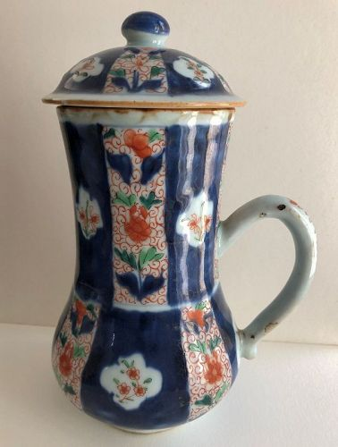 Japanese porcelain Western style tankard with lid, 18th century