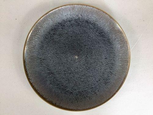 Jian ware Oil Spot platter by Takeshi Furukawa