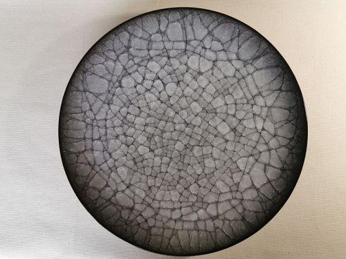 Ice Crackle Glaze plate by Takeshi Imaizumi