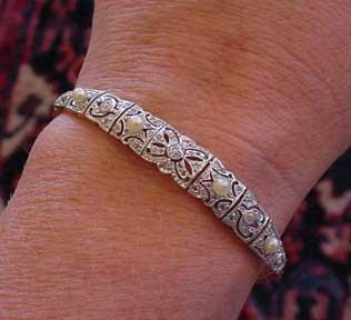 Edwardian Platinum & Diamond Bracelet