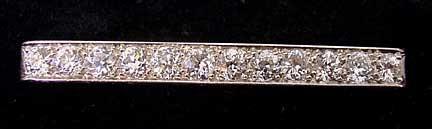 Art Deco Platinum & 4 Carat Diamond Pin
