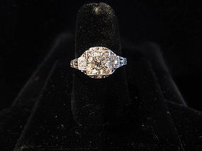 1.11 ct Platinum and Diamond Ring