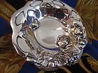 Sterling Silver Art Nouveau Roses Motif Small Bowl