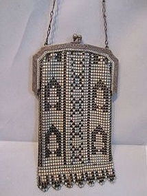 Whiting & Davis Enameled Mesh Purse