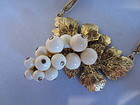 Vintage Yves Saint Laurent Gold Tone Grapes Necklace