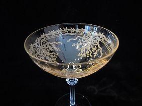 "Fostoria ""June"" Yellow Tall Sherbet or Champagne"
