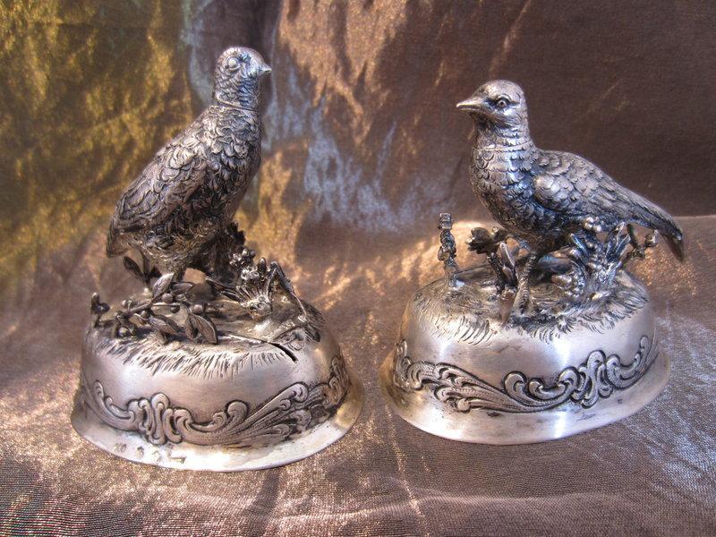 Pheasant Salt & Pepper Shakers/Place Card Holders