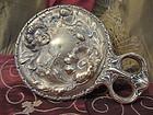 Art Nouveau Brass Hand Mirror