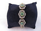 Antique Emerald & Diamond Bracelet