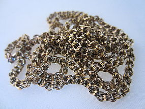 "Victorian 10k Yellow Gold 31"" Chain"
