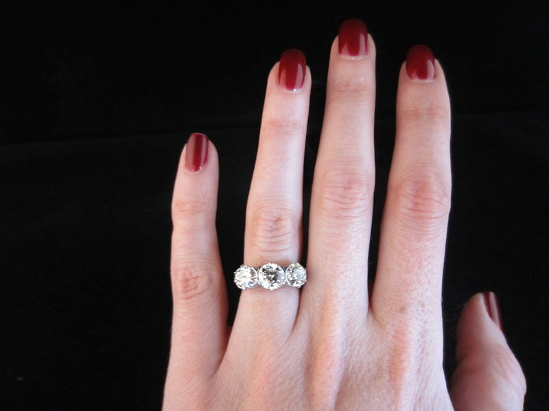 2.6 Carat Total Weight Diamond Ring