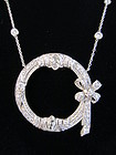 Platinum & Diamond Circle Pendant