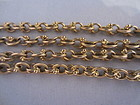 "Heavy 18k Yellow Gold 21.5"" Long Chain"