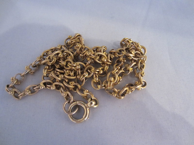"Heavy 18k Yellow Gold 21.5"" Long Chain"