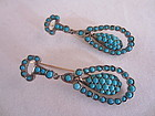 Victorian Turquoise Earrings in 9ct and Silver
