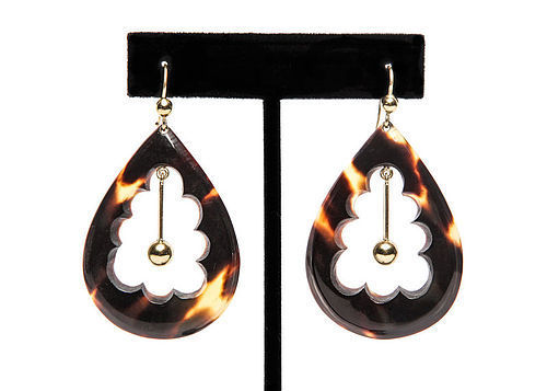 Victorian Tortoise Shell Earrings