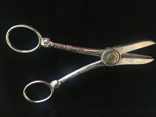 Antique Silver Plate Garden Shears