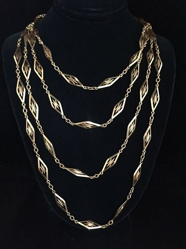 "61"" 18k French Chain"