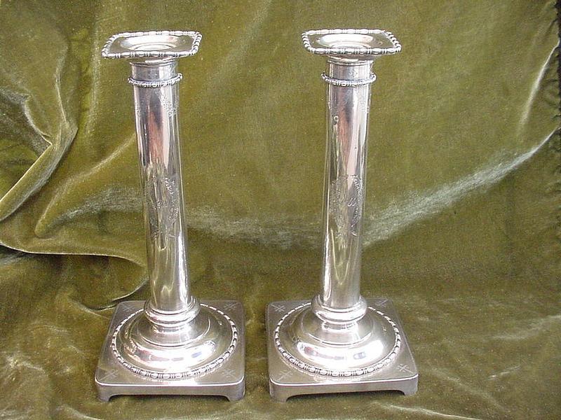 Goodnow & Jenks Sterling Candlesticks c.1900