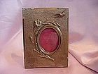 19th C. Bronze Picture Frame with Bird