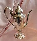 Shreve Sterling Silver Chocolate Pot