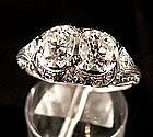Antique Art Deco Platinum and Diamond Ring