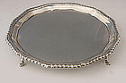 Hallmarked Sterling Silver Salver - Hoof Footed