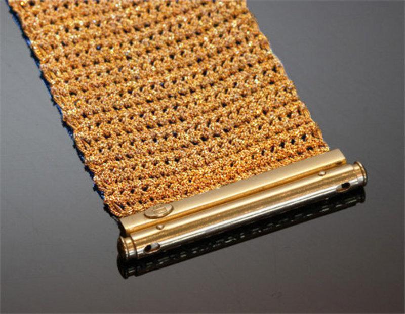 14K Yellow Gold Mesh Woven Bracelet