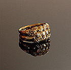 18K Gold Ring With Floral Braid