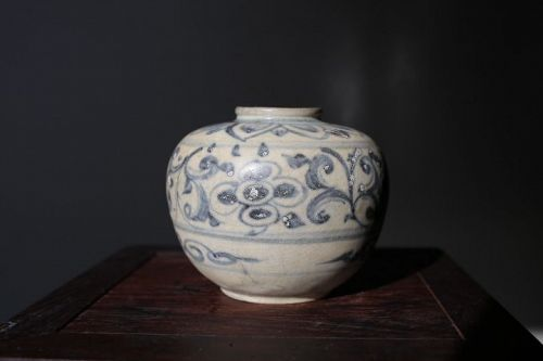 14th Century Chinese Blue and White Jarlet