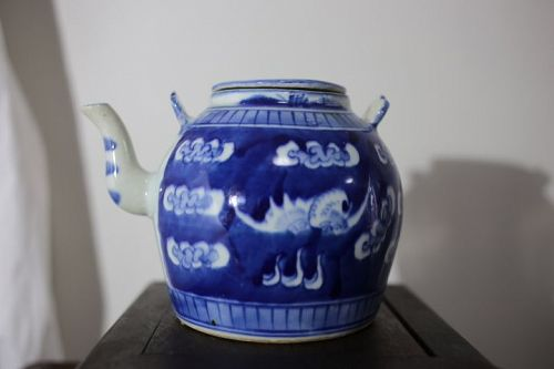 Chinese Early Qing Dynasty Tea Pot