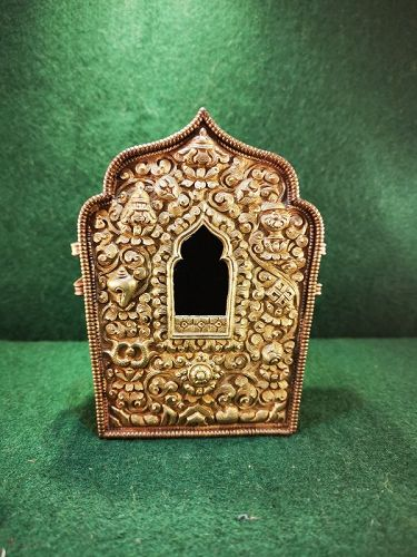 Qing Dynasty Tibetan Copper Amulet Box (Ga'u) #2