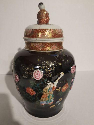 Japanese Meiji Period Enamel Vase