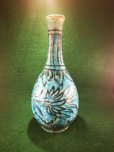 Turquoise Glazed Pottery Vase