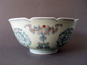 A superb, broken Wucai bowl with Chenghua mark