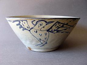 A large Korean Choson period blue and white bowl