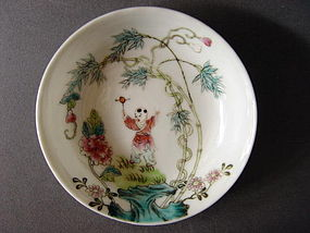 A nice, small Guangxu Mark and Period dish, saucer