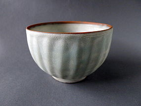 A large Song Dyn. Longquan ware Lotus bowl