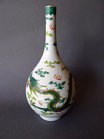 A Daoguang Mark and Period Dragon vase