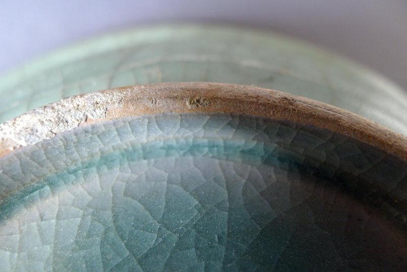 A large blue-green Guan glazed Longquan Celadon dish