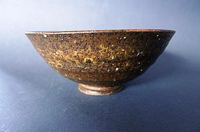 A rare Japanese Bizen chawan teabowl