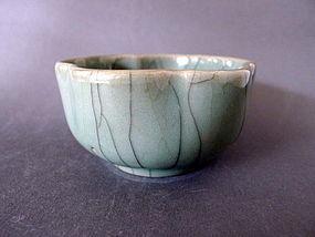 A rare Qianlong Period Guan glazed washer