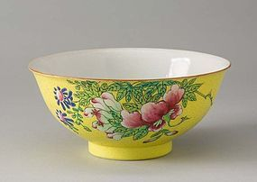 A Graviata ground bowl Qianlong Mark and of the Period