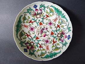 A brightly enamelled republican period dish