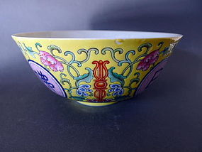 A large Daoguang marked famille rose bowl