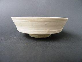 "A rare, white glazed Song - Yuan ""shufu"" shape bowl"