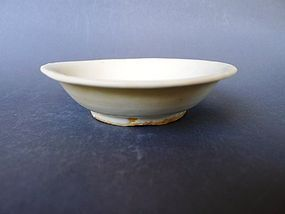A lovely, white glazed  middle Ming Period Dish